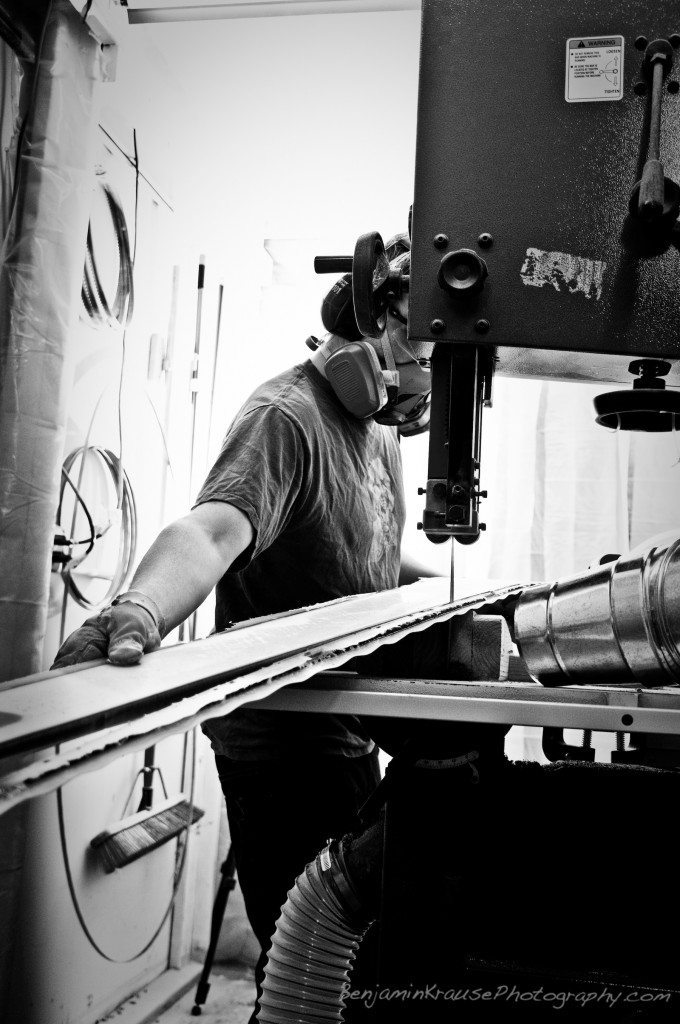 ON3Ps Rowen Tych, on the band saw.