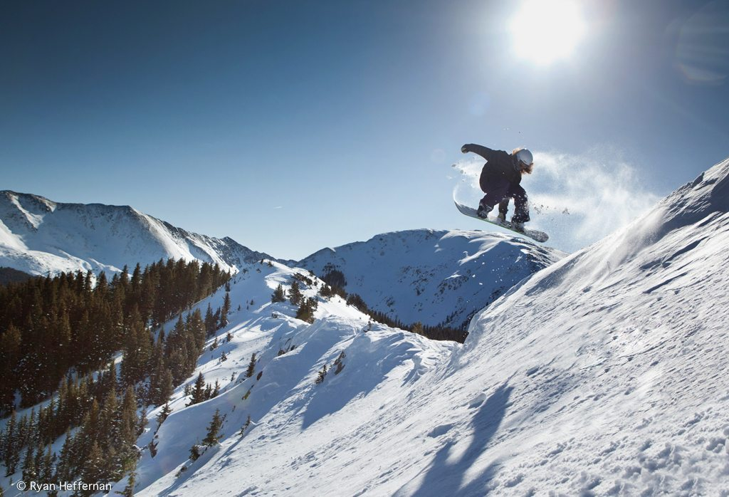 New BLISTER reviewer Jed Doane, sending it off of Kitchen Wall, Taos Ski Valley.