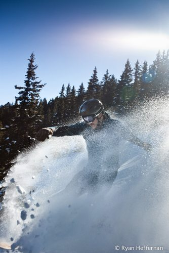 Justin Bobb finds deep snow and amazing light at Taos Ski Valley.