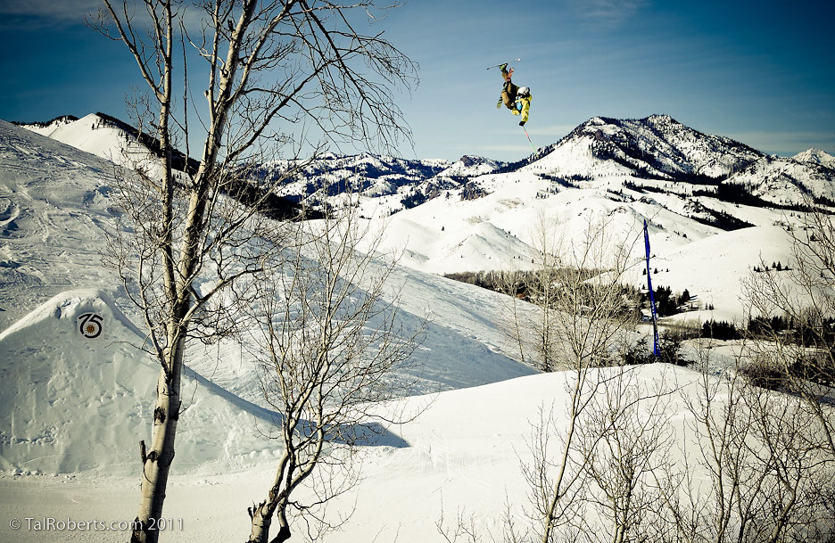 Scott Nelson, throwing down off of a huge jump.