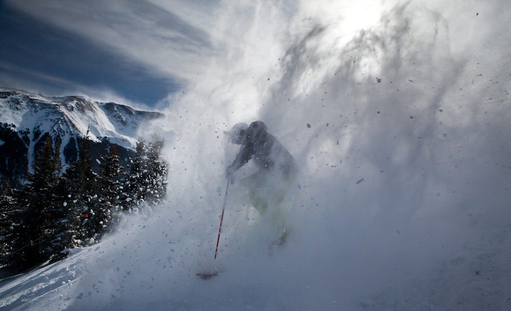 Will Brown, in the white room, Taos Ski Valley.