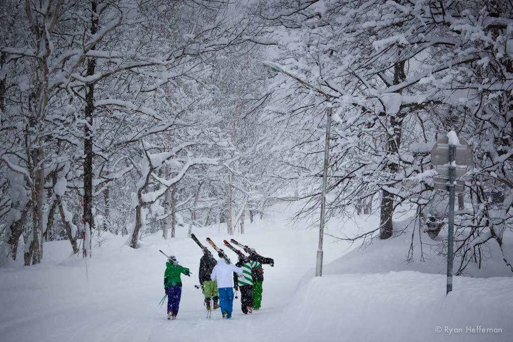 The Road from Black Diamond Lodge to Niseko.