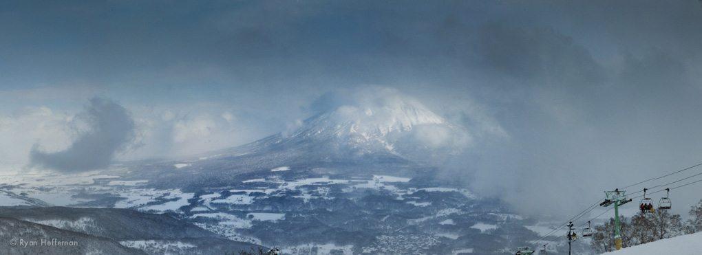 View of Mt. Yotei, from Niseko.