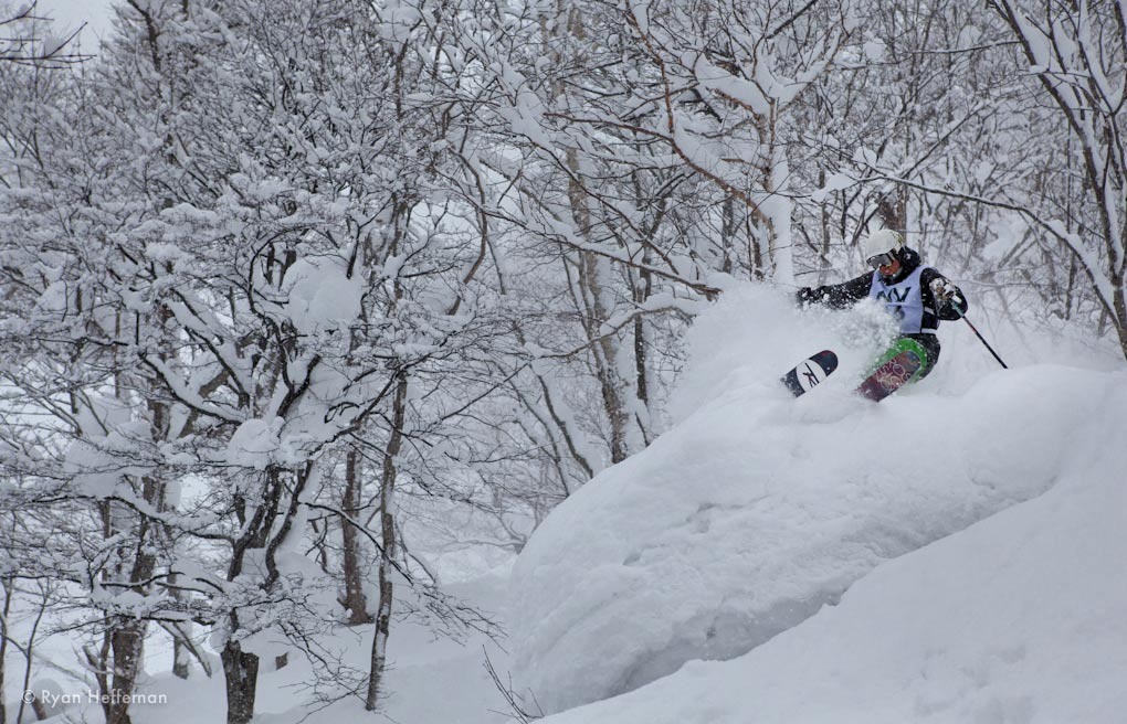 Jason Hutchins, on the Rossignol Squad 7, Niseko, Japan.