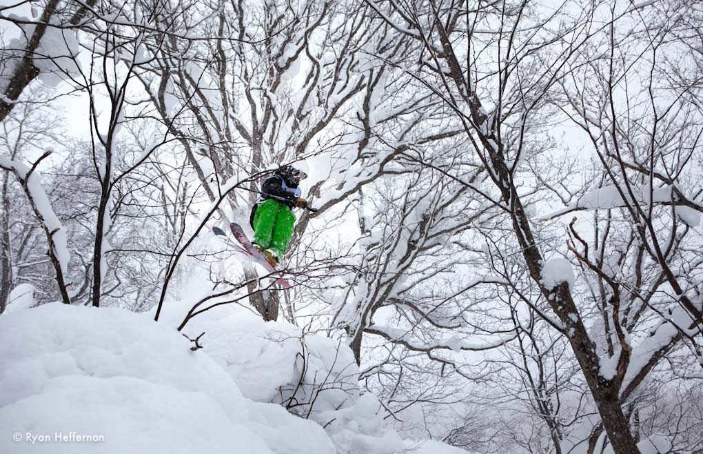 Jason Hutchins, on the Rossignol Squad 7, Niseko.