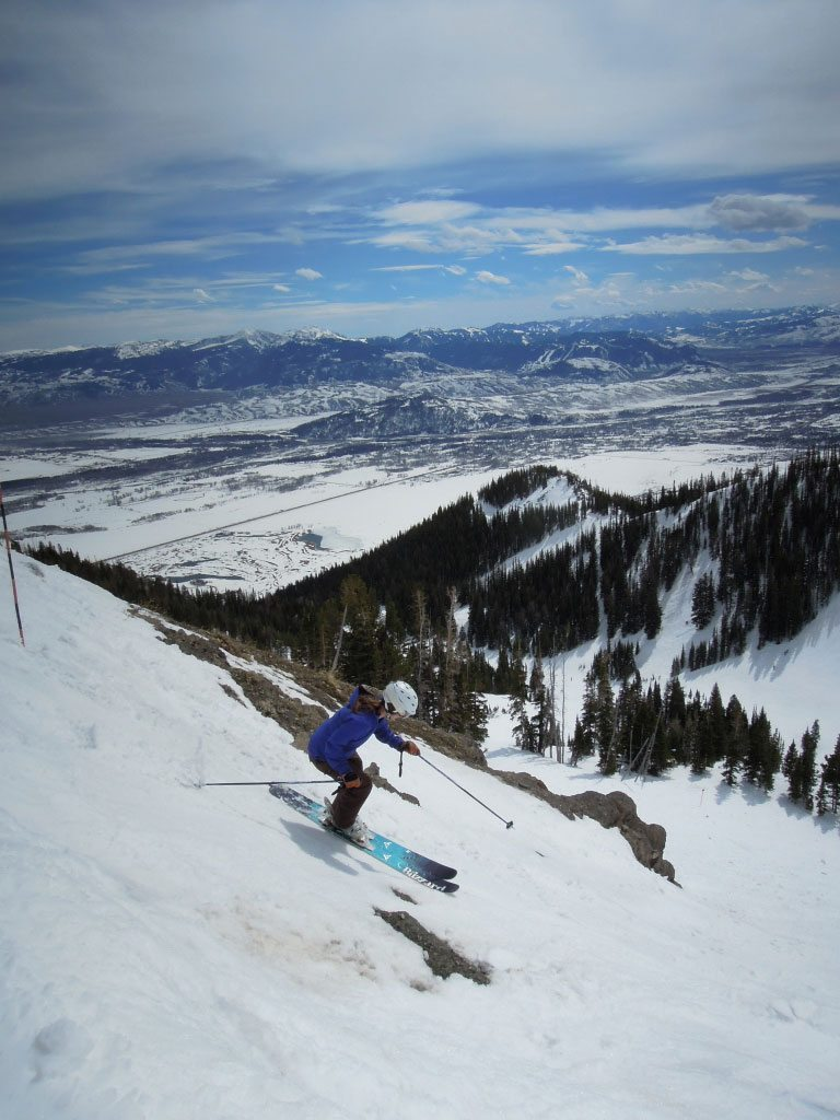 Emily Cleveland on the Blizzard Dakota, Jackson Hole Mountain Resort
