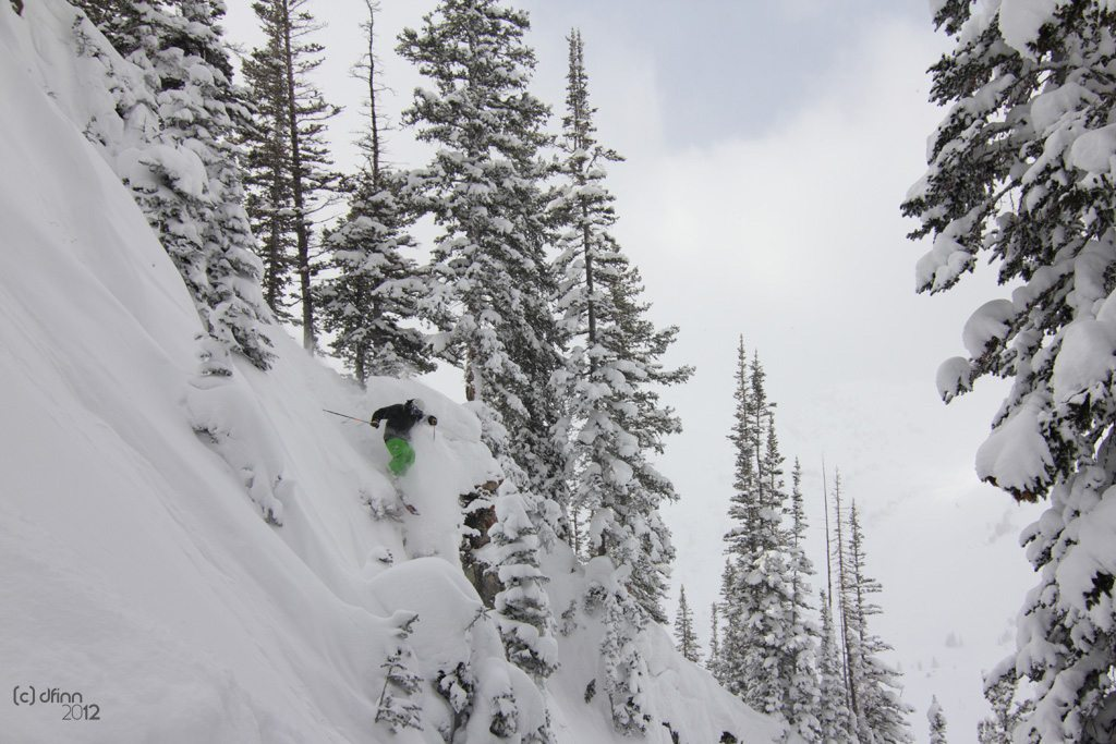 Jason Hutchins, Line Mr. Pollard's Opus, Alta Ski Area.