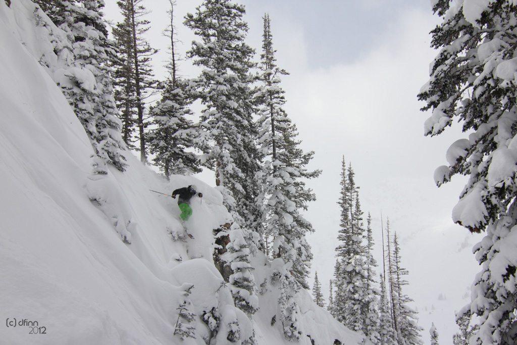 Jason Hutchins, Line Mr. Pollard's Opus, Alta Ski Area.