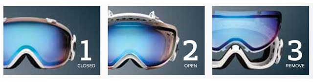 Smith Goggle's Quick Release Lens System