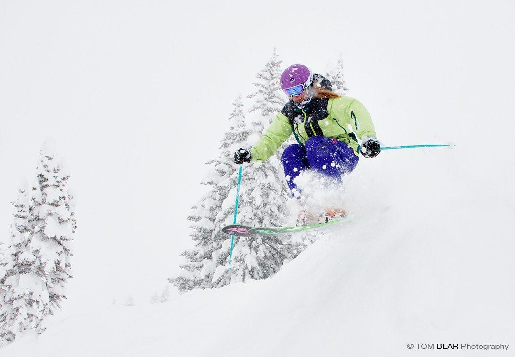 Julia Van Raalte, Volkl Nanga Pant, Alta Ski Area.
