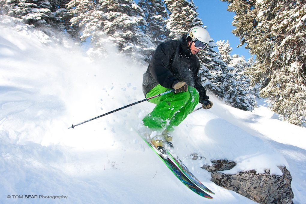 Jason Hutchins on the Nordica Patrón, Alta Ski Area.