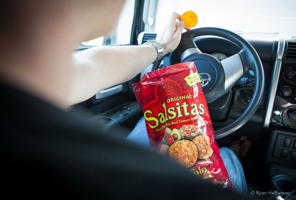 Photo of the Salsitas Spicy Salsa Chips, Blister Gear Review.