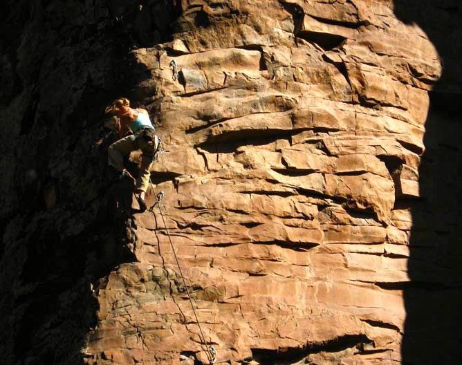 Marci Eannarino, El Diablo Canyon, New Mexico, Blister Gear Review