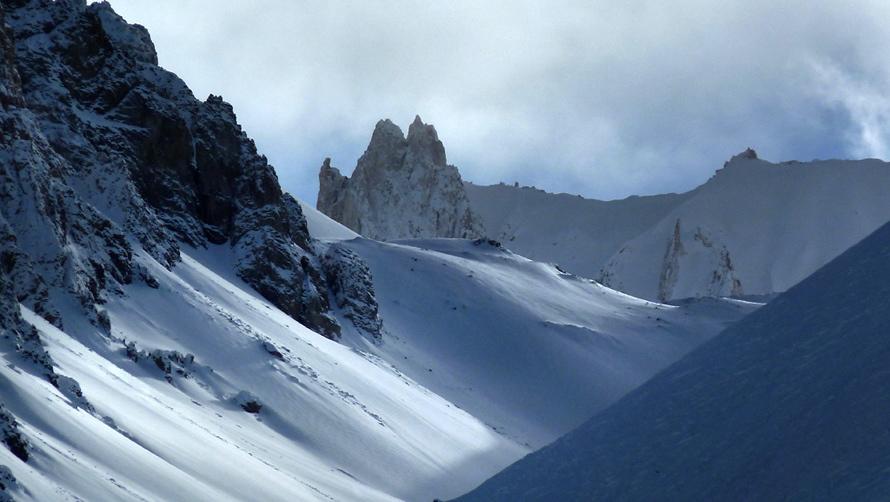 View of Cerro Torrecillas, from the Innsbruck at Las Leñas.