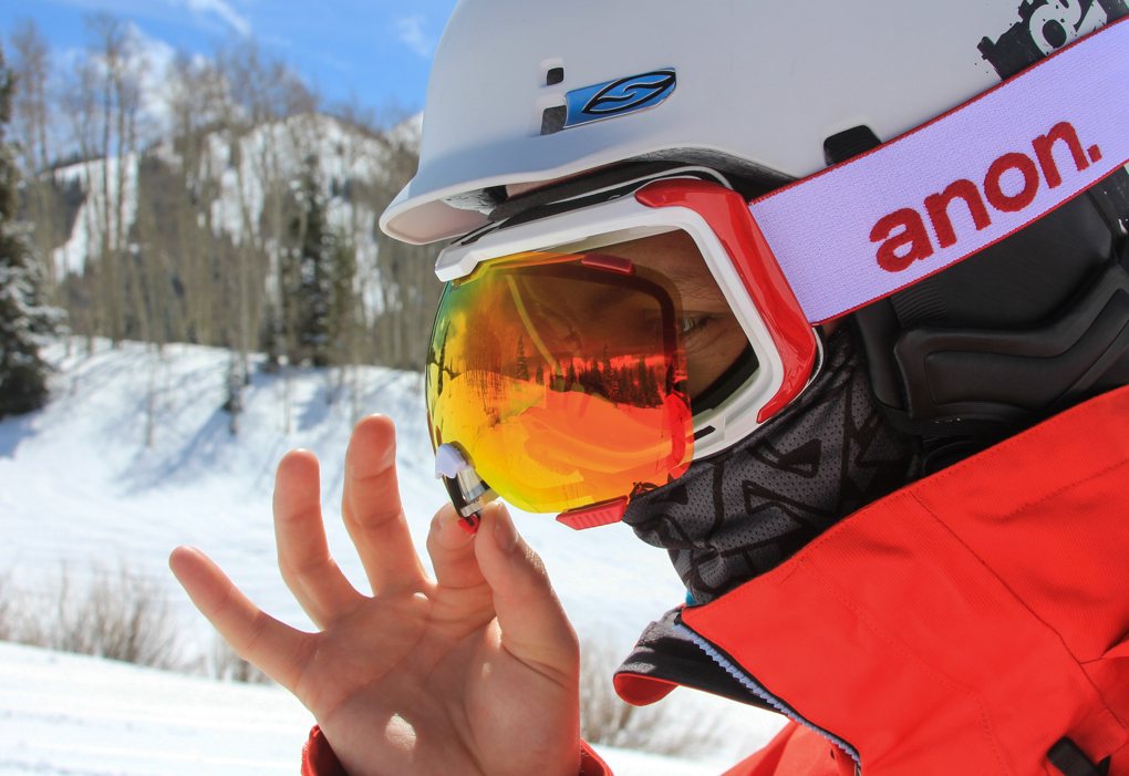 Will Brown reviewing the Anon M1 Goggle, Blister Gear Review