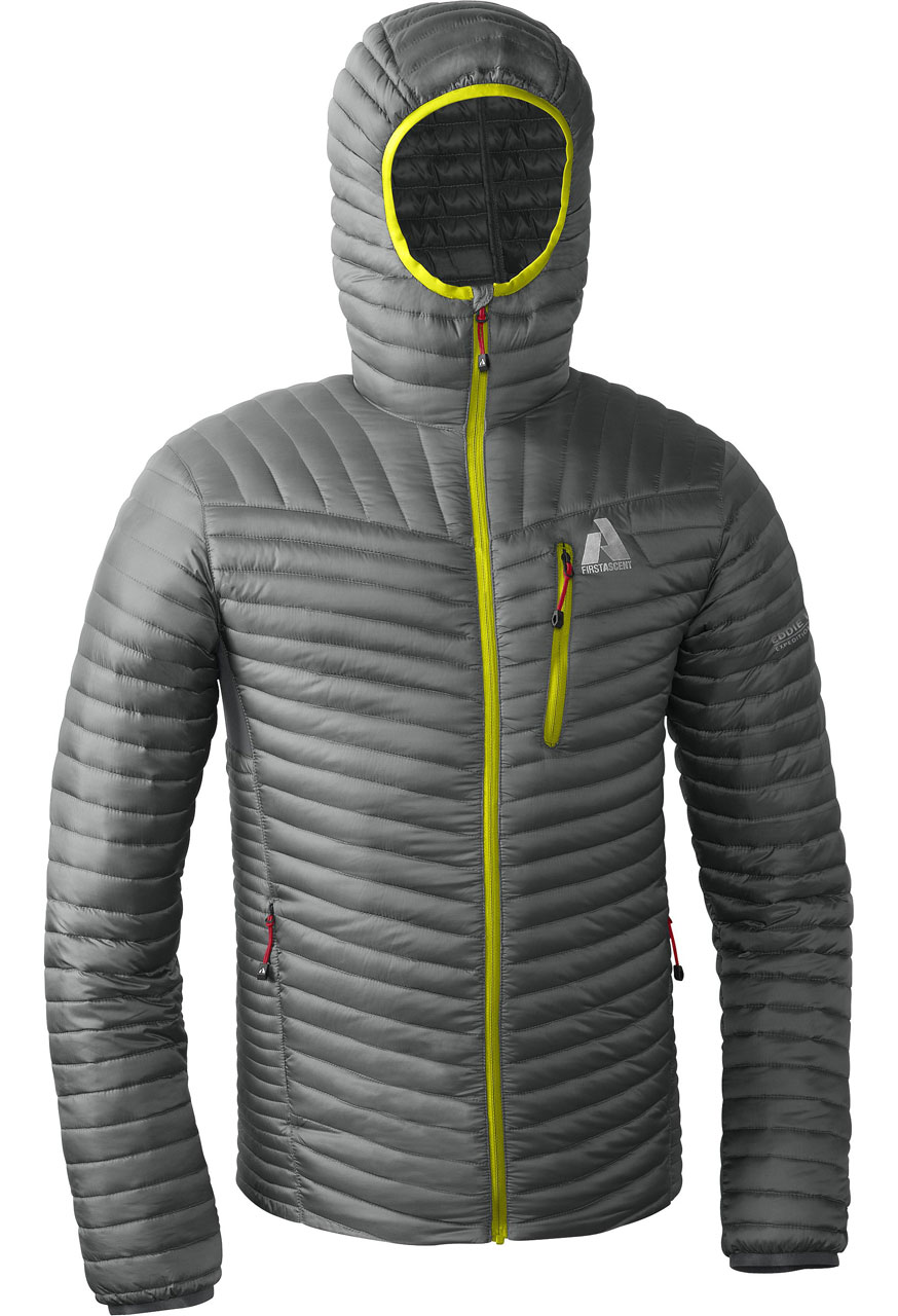 First Ascent Microtherm Down Hooded Jacket Blister