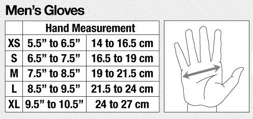 Dakine Sizing Chart - Mens Gloves, Blister Gear Review