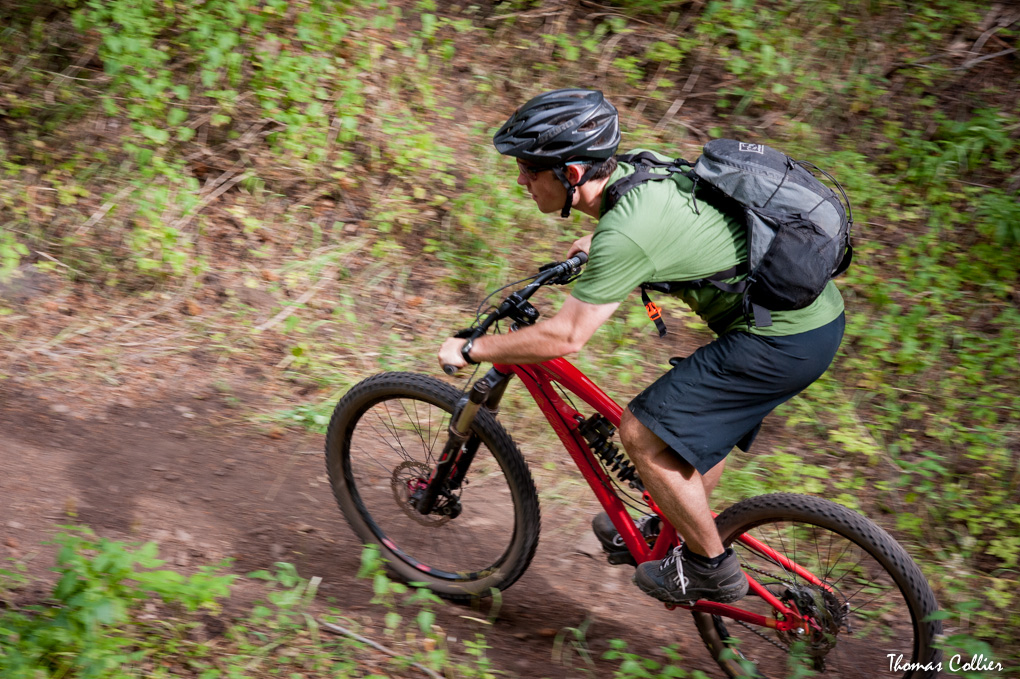 Tom Collier's Santa Cruz Nomad with Avalanche Chubie, Blister Gear Review