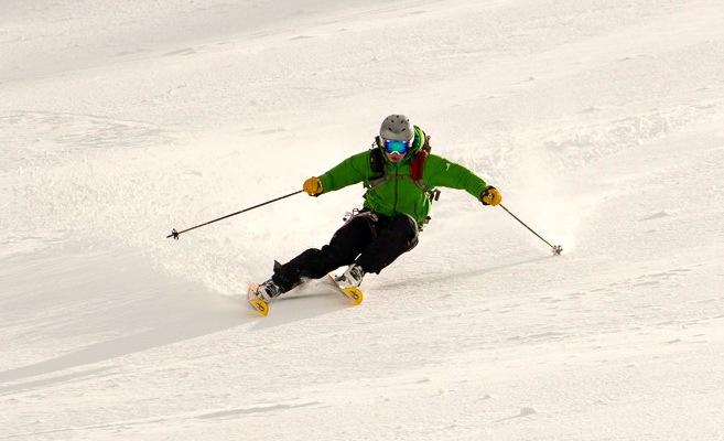 test ski salomon q 105   Becky (Chain Reaction Redwood City)