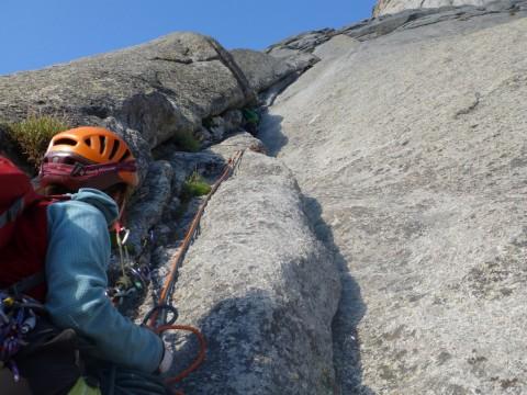 Mammut Nordwand, rope on climb