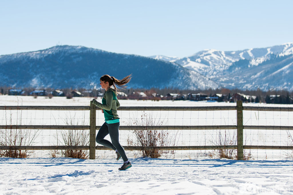 Lexi Dowdall in the TREW Vaporizer pullover Swaner Nature Preserve, Park City, Utah, Blister Gear Review