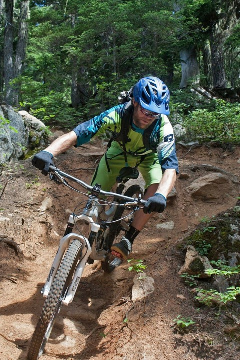 Eric Melson in the Race Face Ambush Kit, Whistler
