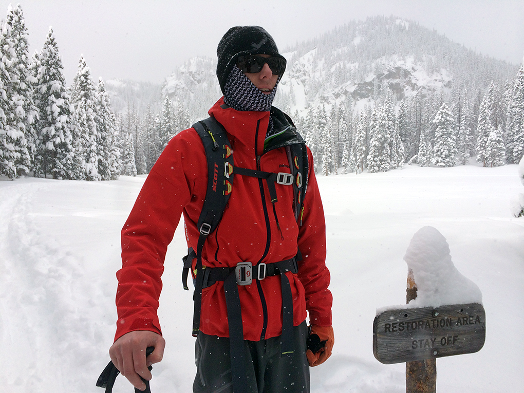 Sam Shaheen reviews the Patagonia Knifeblade jacket and pants, Blister Gear Review.
