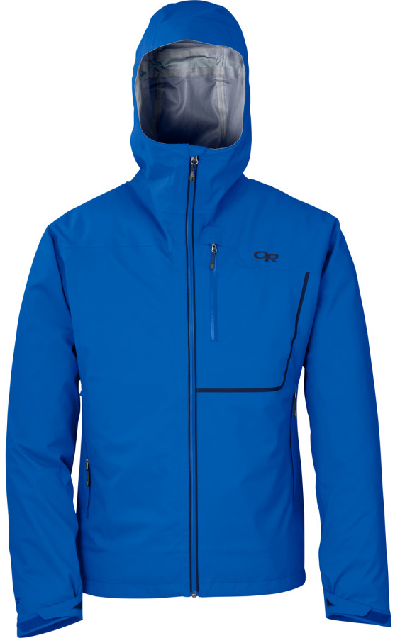 Eric Melson reviews the Outdoor Research Axiom Jacket, Blister Gear Review.