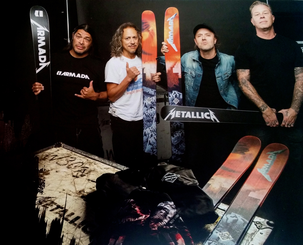 Metallica and Armada skis
