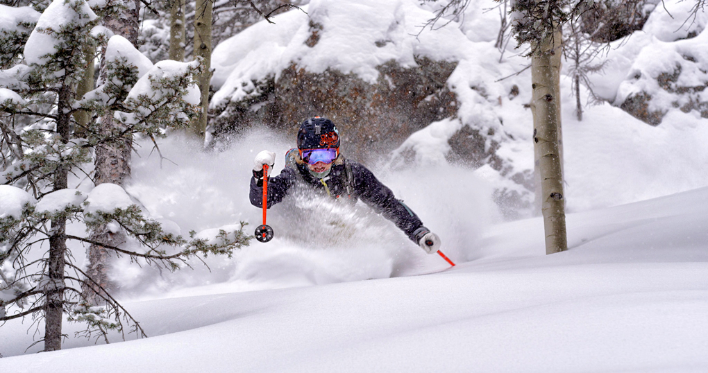 Elyse Saugstad, Taos Freeride Comp, Blister Gear Review