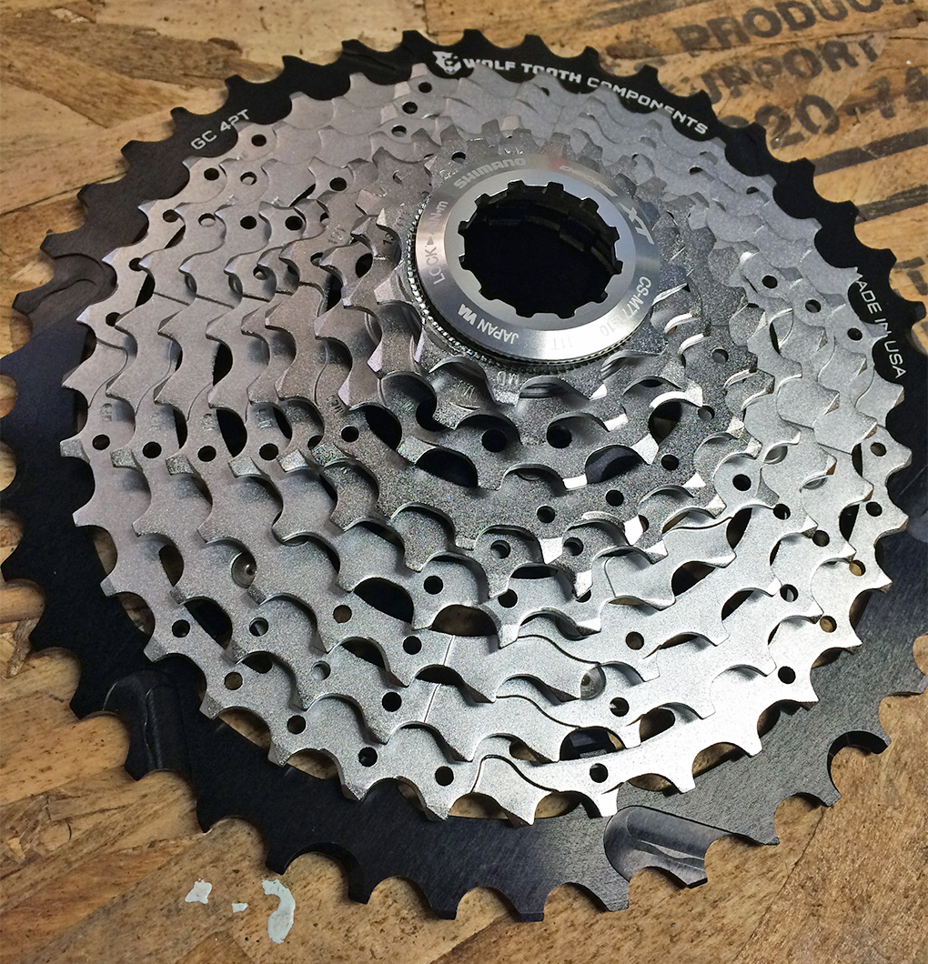 Tom Collier reviews the Wolftooth GC42 Cassette Cog for Shimano, Blister Gear Review.