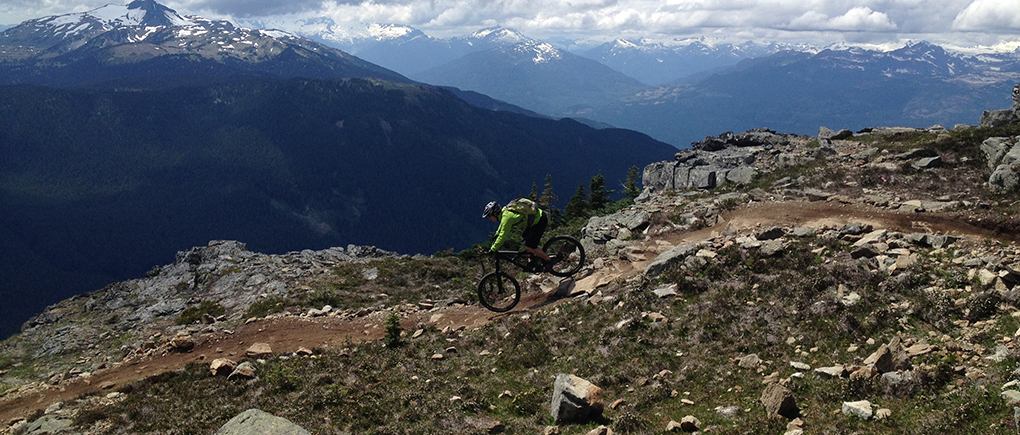 Thomas Collier on the Specialized Enduro FSR Expert Carbon 26, Whistler BC