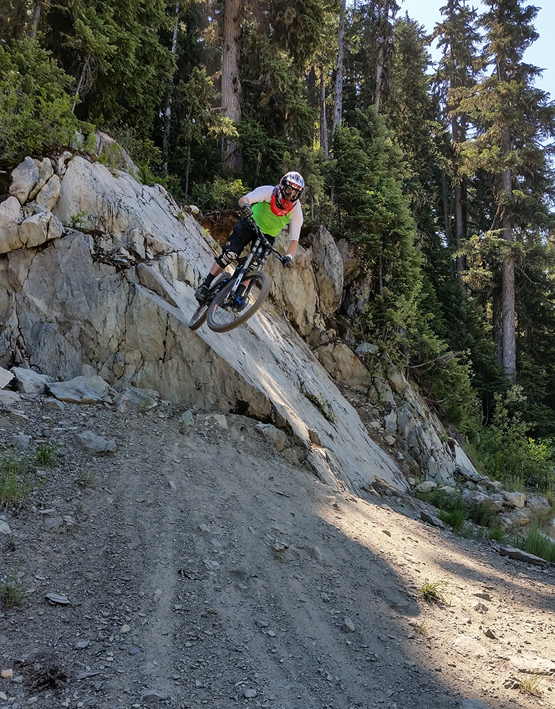 Noah Bodman on the Race Face SIXC Carbon Bar and Atlas DM 35 Stem, Whistler, BC.