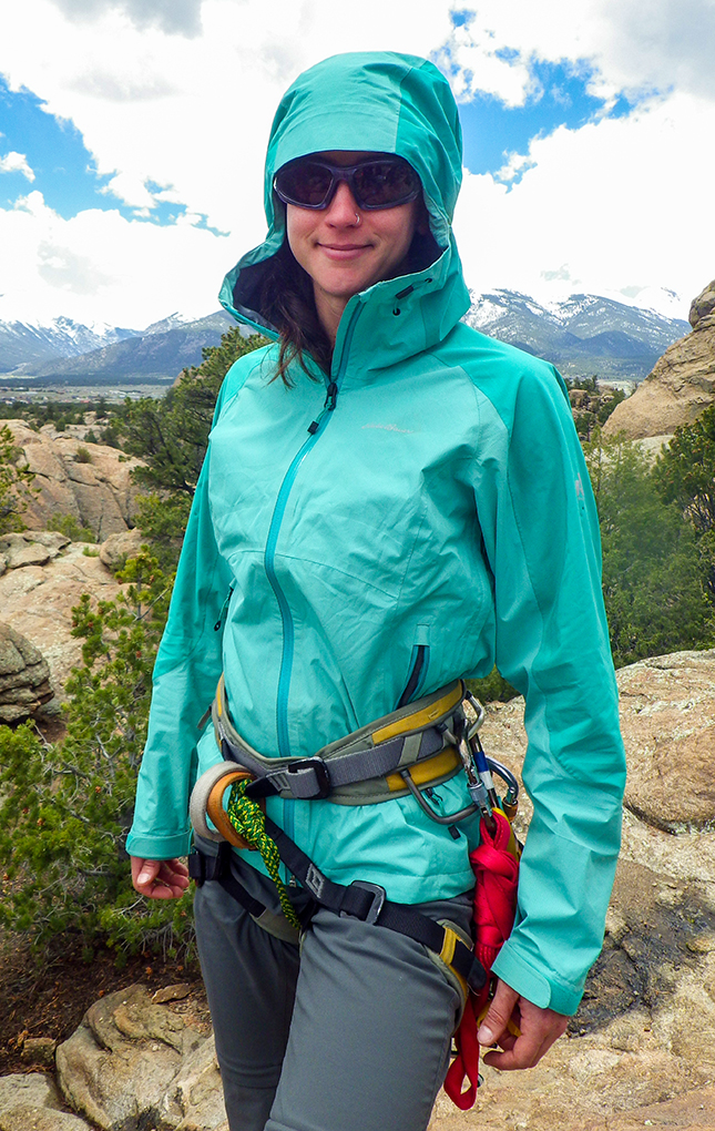 Andi Stader reviews the Eddie Bauer / First Ascent – Women's Alpine Front Jacket for Blister Gear Review