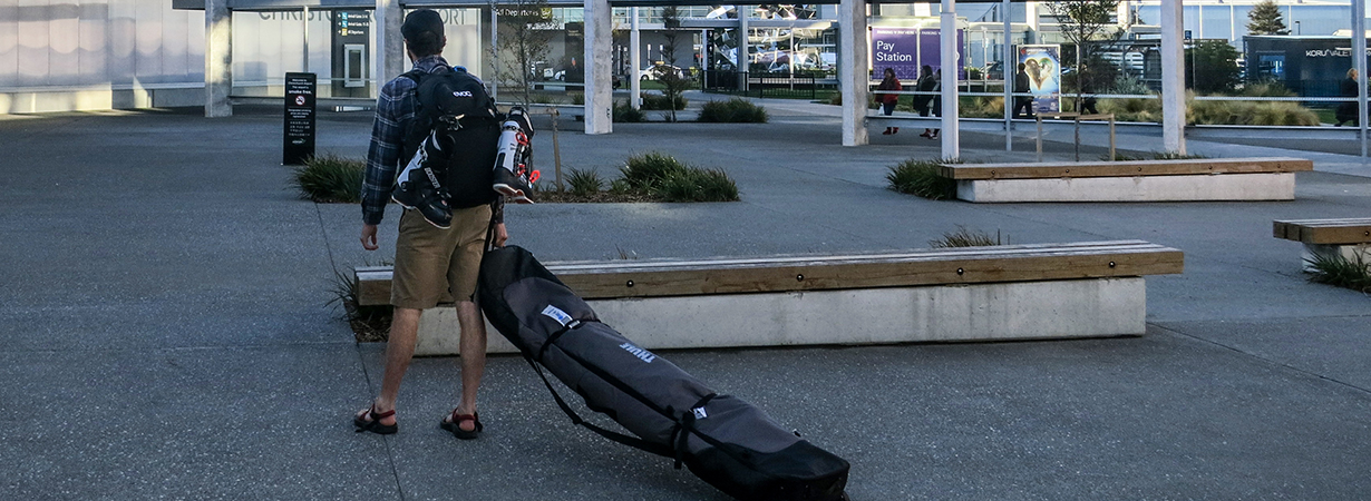 Cy Whitling reviews the Thule RoundTrip Double Ski Roller Bag for Blister Gear Review