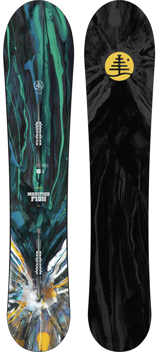 Jed Doane reviews the Burton Modified fish snowboard for Blister Gear Review
