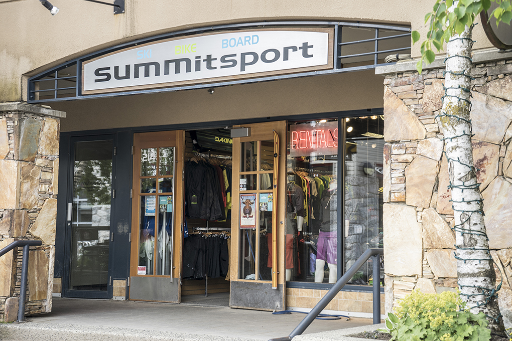 Blister Shop Summit Sports Whistler.