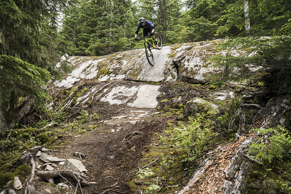 Noah Bodman on a Rocky Mountain Instinct from Summit Sports, Whistler, BC.