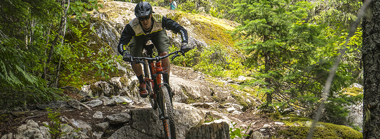 Noah Bodman on the Race Face Turbine Dropper Post, Whistler, BC.