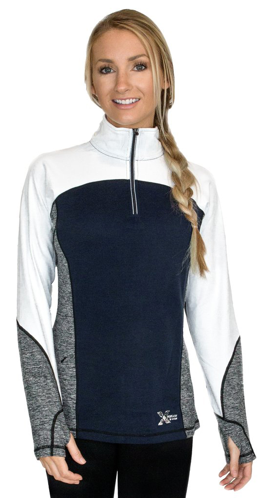 Kristin Synott reviews the WoolX Women's Rory Quarter Zip Sweater for Blister Gear Review.