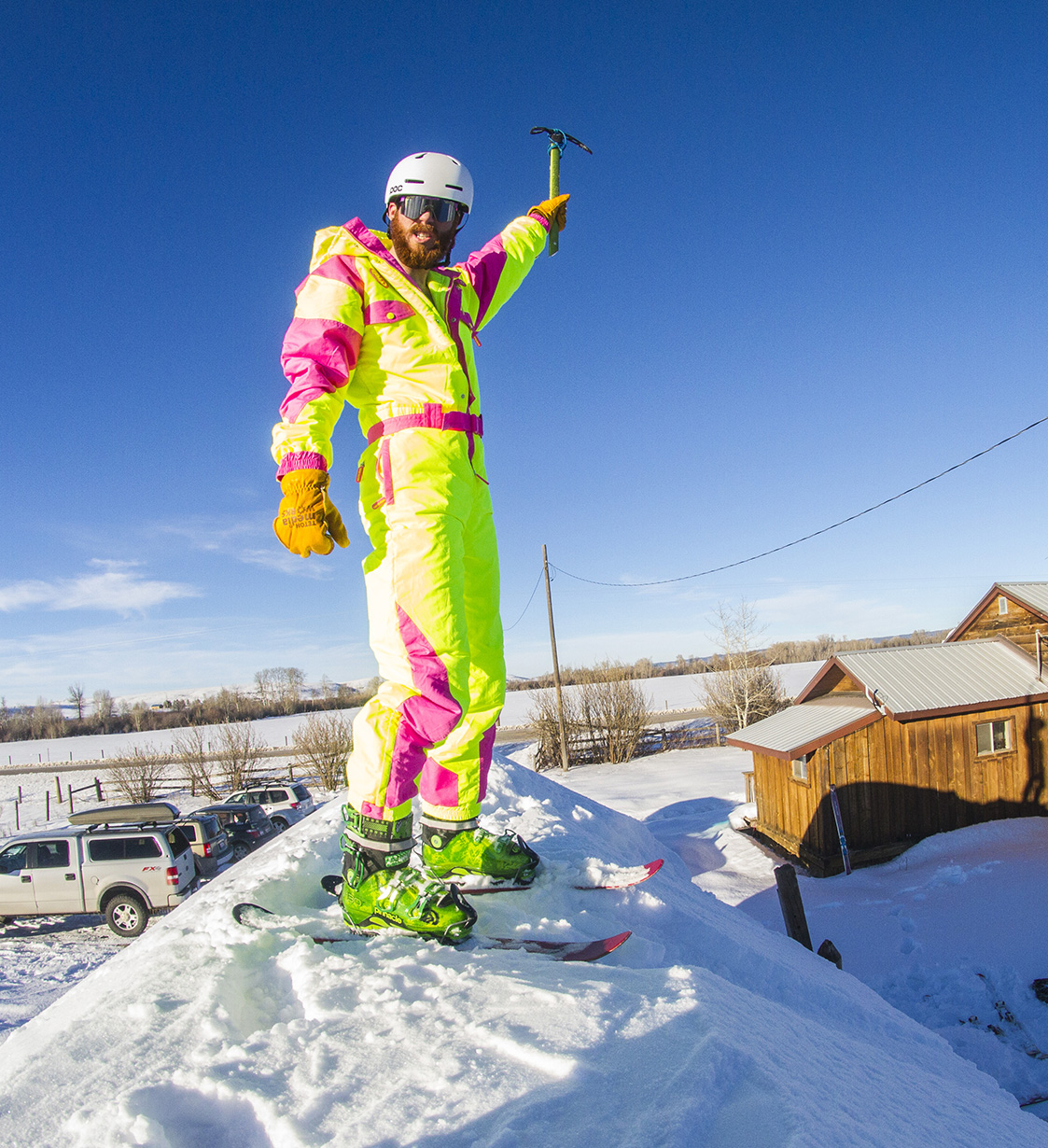 Cy Whitling reviews the Tipsy Elves Powder Blaster Onesie Ski Suit for Blister Gear Review.