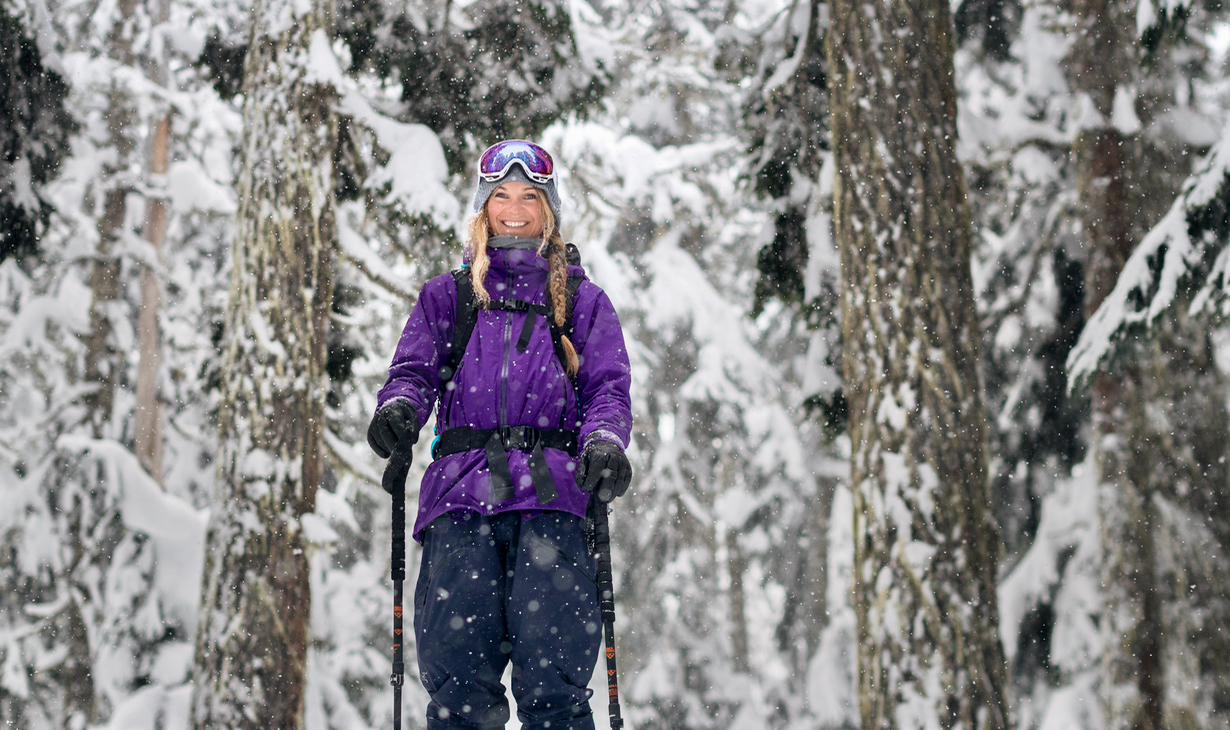 Michelle Parker, skier, on the Blister Podcast