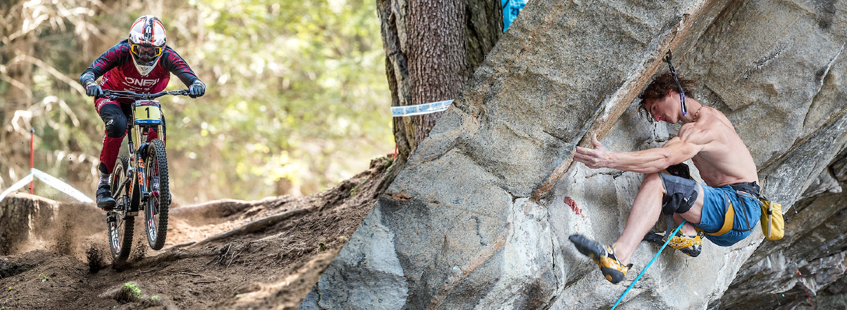 Dave Alie and Noah Bodman talk about Adam Ondra, Greg Minnaar, and Aaron Gwin on the blister podcast