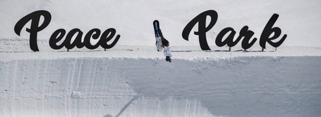 Snowboarder Danny Davis talking about Peace Park on the Blister Podcast