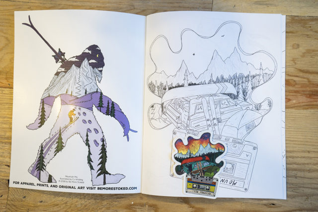 Cy Whitling's Mountain Mix Coloring Book on Blister