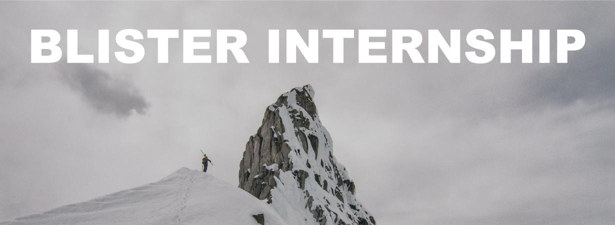Blister Internship, Outdoor Industry Internship