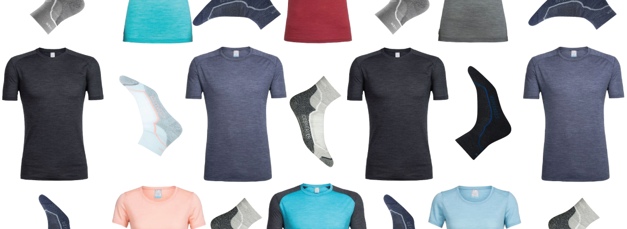 Win men's and women's Icebreaker cool-lite sphere short sleeve crewe shirts and hike+ Light Mini socks, Blister Gear Giveaway