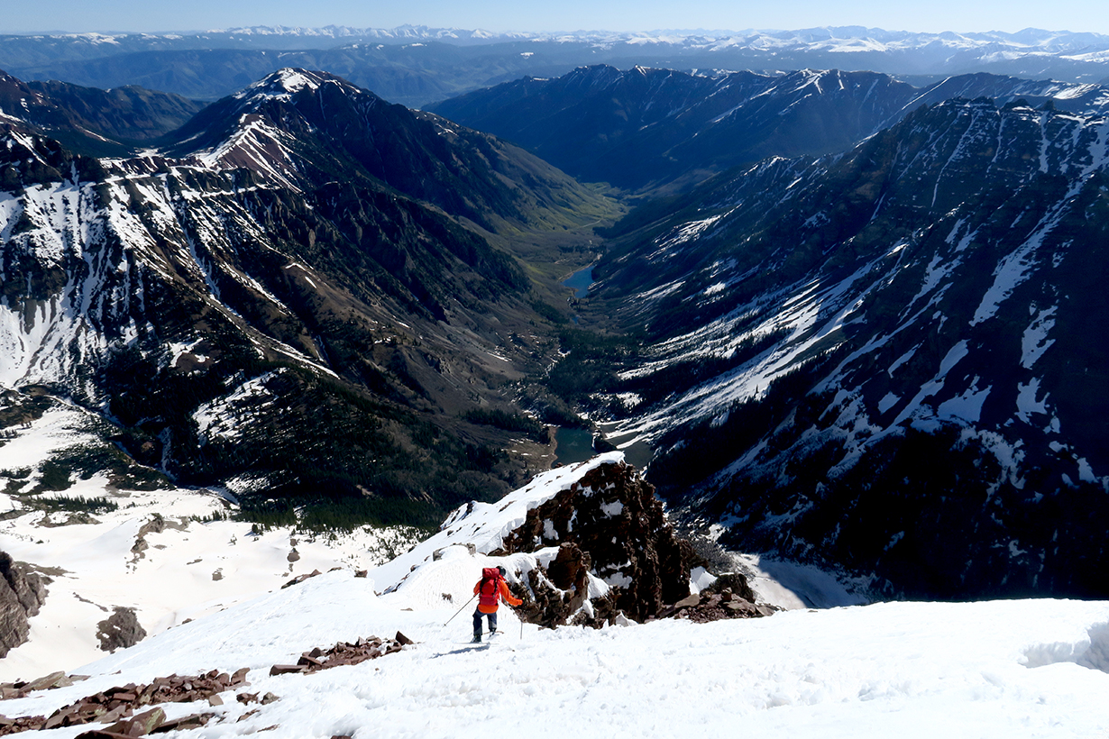 Sam Shaheen on North Maroon Peak, CO