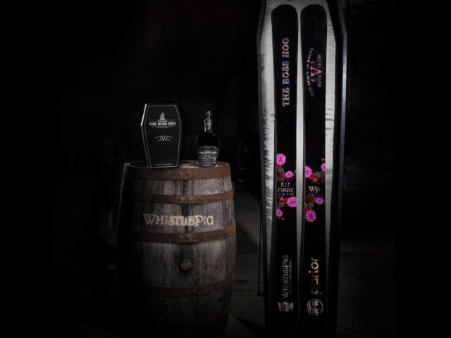 Parlor Skis and WhistlePig's Boss Hog ski and whiskey package on Blister