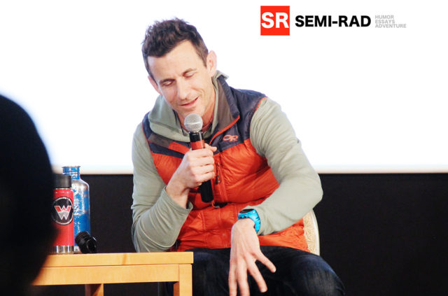 Brendan Leonard of Semi-Rad.com speaking at the Blister Speaker Series at Western University